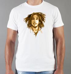 Футболка с принтом Боб Марли (Bob Marley) белая 007