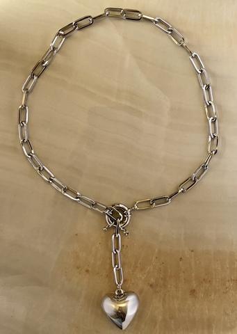 Колье Акора, серебряный цвет