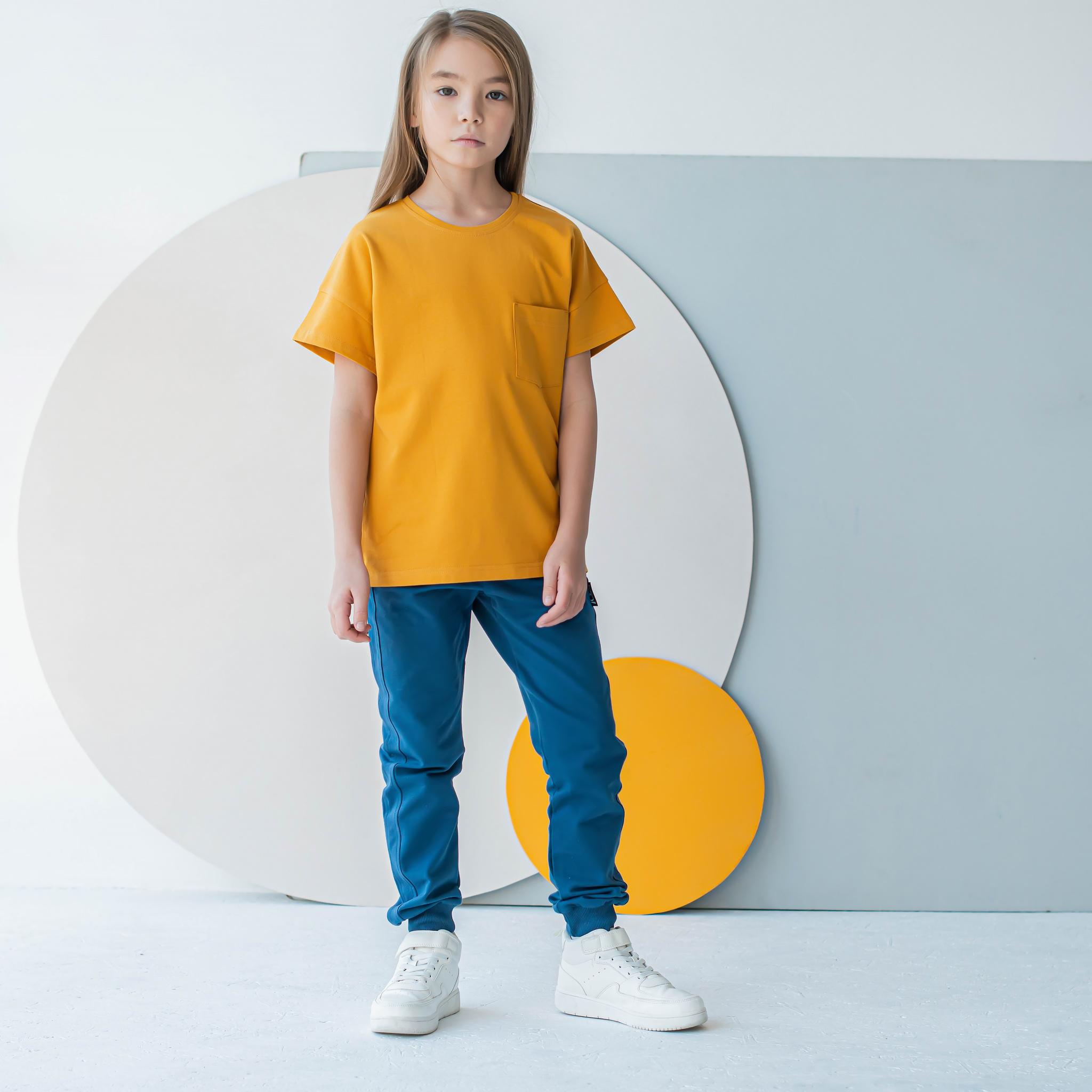Basic T-shirt for teens - Mustard