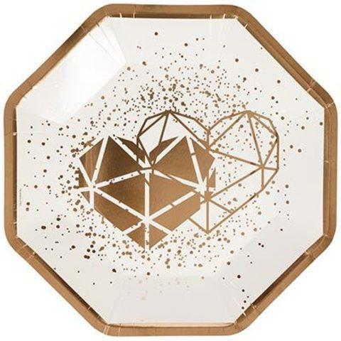 Тарелки фигурные Свадьба Luxe Vanilla