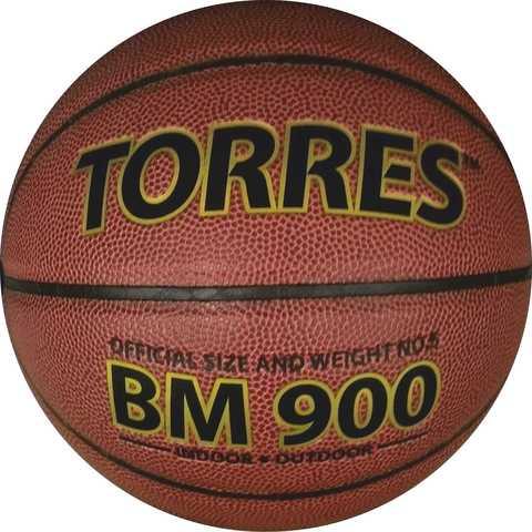 Мяч баскетбольный детский Torres BM 900 №5 Кожаный