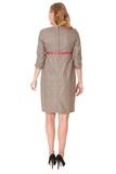 Платье для беременных 06131 коричневый