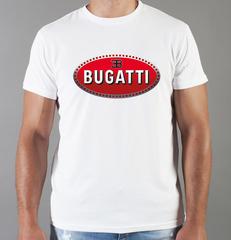 Футболка с принтом Bugatti (Бугатти) белая 002