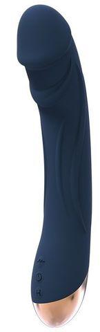 Синий вибромассажер BOREAS - 23 см.