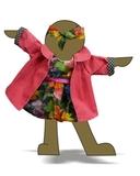 Комплект: Пальто вельвет и платье баллон - Демонстрационный образец. Одежда для кукол, пупсов и мягких игрушек.
