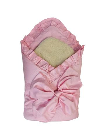 Папитто. Конверт-одеяло с меховой вставкой, розовый