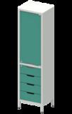 Шкаф лабораторный ШКа-1  АйЛаб Organizer (вариант 6)