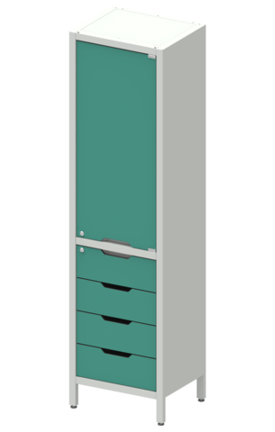 Шкаф лабораторный ШКа-1  АйЛаб Organizer (вариант 6) - фото
