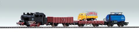Грузовой поезд - Паровоз + 3 вагона