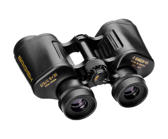 Бинокль БПЦс6 8x30 с обрезиненным покрытием: окуляры и колесо фокусировки