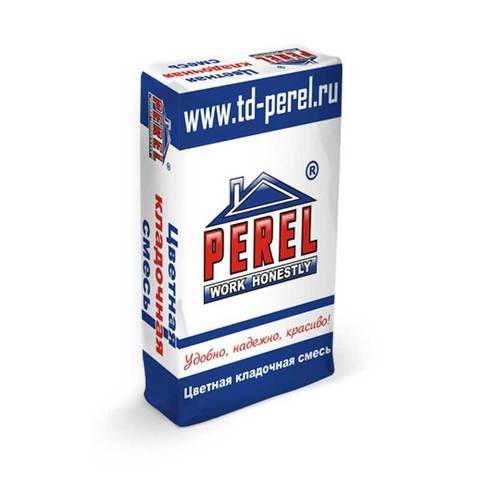 Perel SL 0050, коричневый, мешок 50 кг - Цветной кладочный раствор