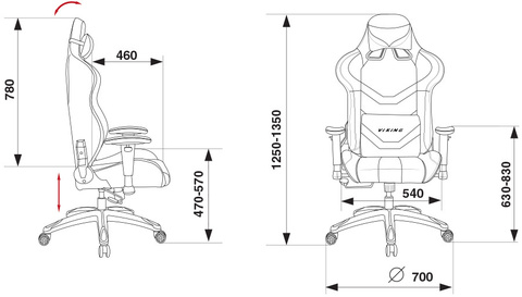 CH-772N Кресло игровое (Бюрократ)