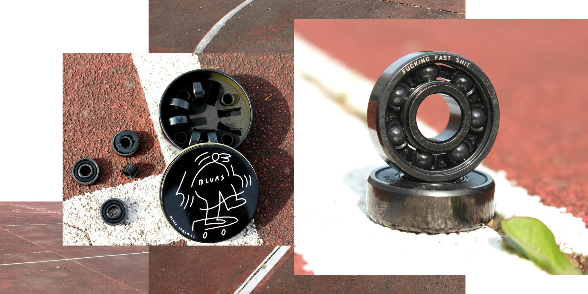 Подшипники для скейта BLURS Ceramics Black