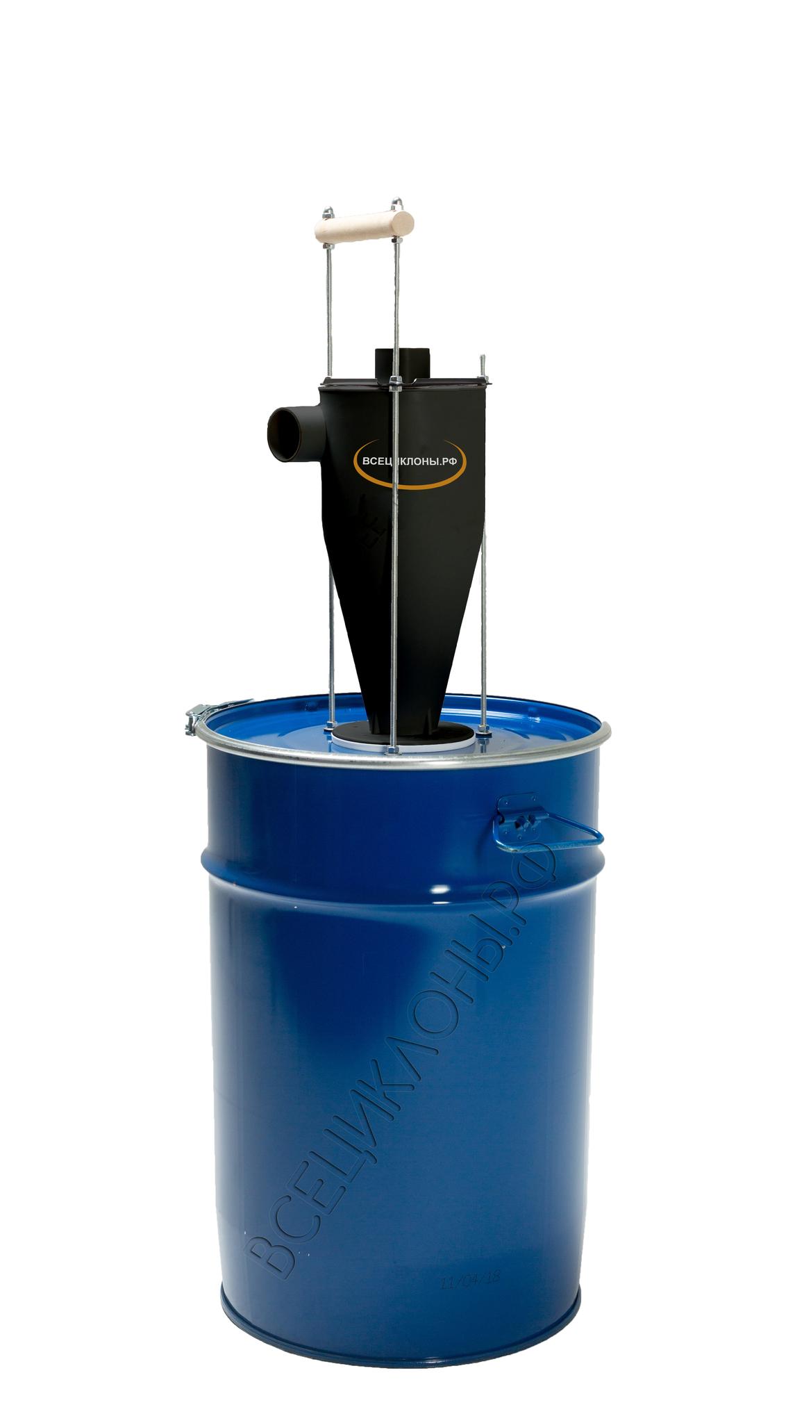 Циклонный фильтр MicroDust, пылесборник 50л, скелетный крепёж, шланг