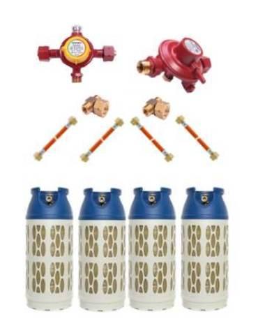 Газобаллонная система GOK (стандарт) для подключения 4 композитных баллонов