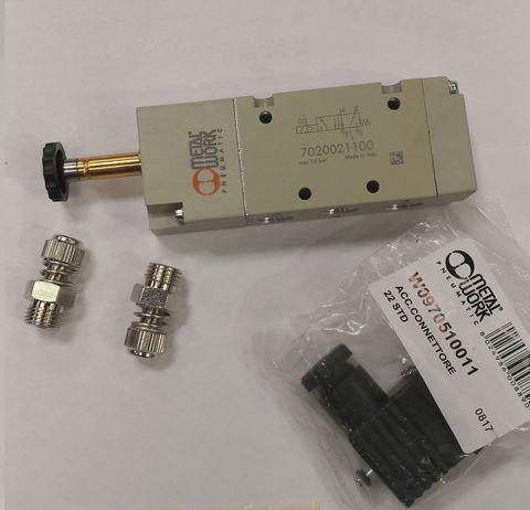 14903 Клапан превматический электромагнитный 5/2 24Вт  AC - 1/4