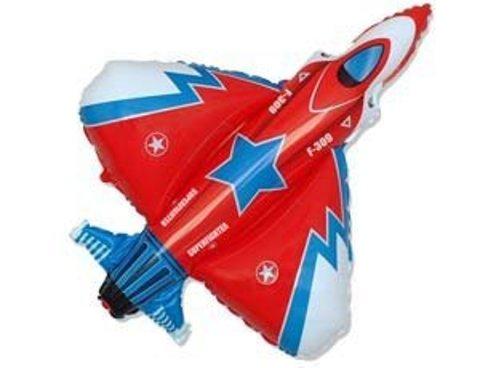 Фольгированный шар Истребитель красный