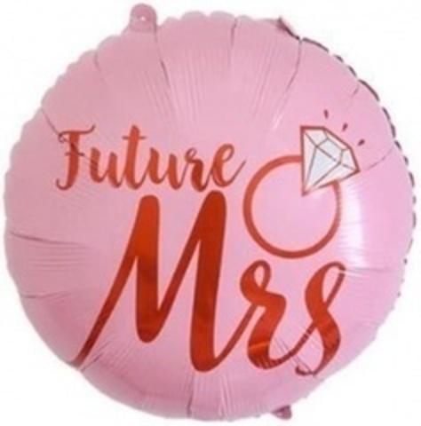 К Круг, Невеста (кольцо с бриллиантом), Розовый, 22''/56 см, 1 шт.