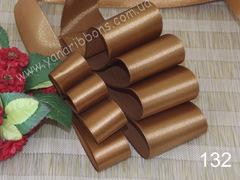 Лента атласная шириной 5см коричневая - 132