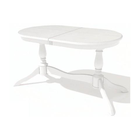 Стол обеденный Романс-21 раскладной овальный белый