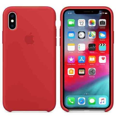 iPhone XS Max Silicone Case (PRODUCT)RED