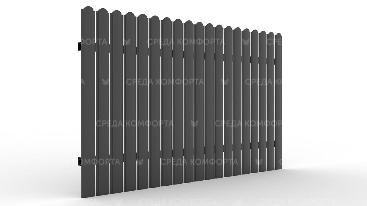 Забор из евроштакетника ZBR0042