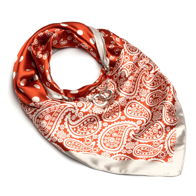 шелковый платок красный