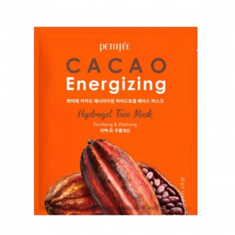 PETITFEE Гидрогелевая маска для лица КАКАО Cacao Energizing Hydrogel Face Mask, 1 шт