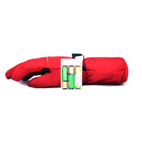 Перчатки с подогревом RedLaika RL-P-03 (AA) на батарейках, Красные