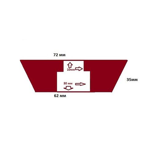 Пробка силиконовая №12 72х62/35 с каналом