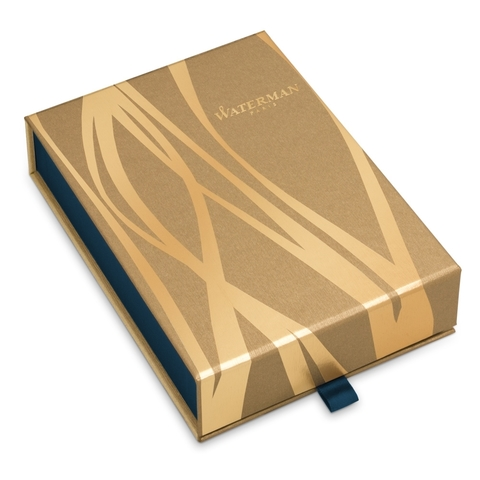 Набор с гравировкой: Чехол и Шариковая ручка Waterman Hemisphere, цвет: MatteBlack GT123