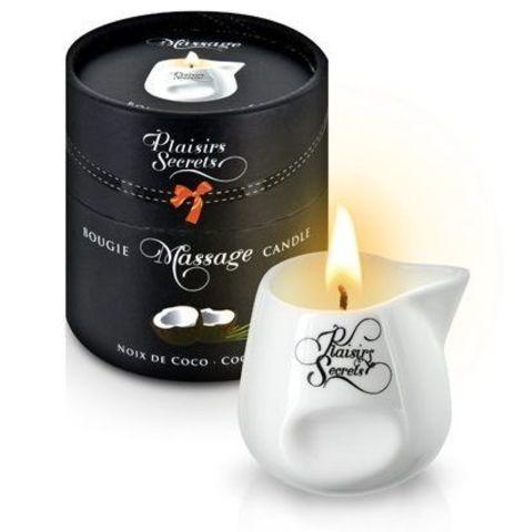 Массажная свеча с ароматом кокоса Bougie de Massage Gourmande Coco - 80 мл.