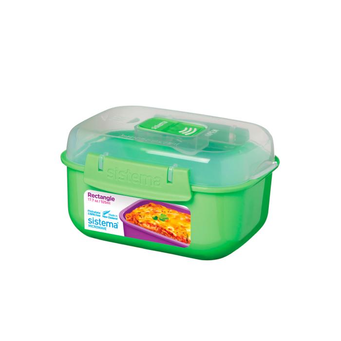 "Контейнер для СВЧ Sistema ""Microwave"" 525 мл, цвет Зеленый"