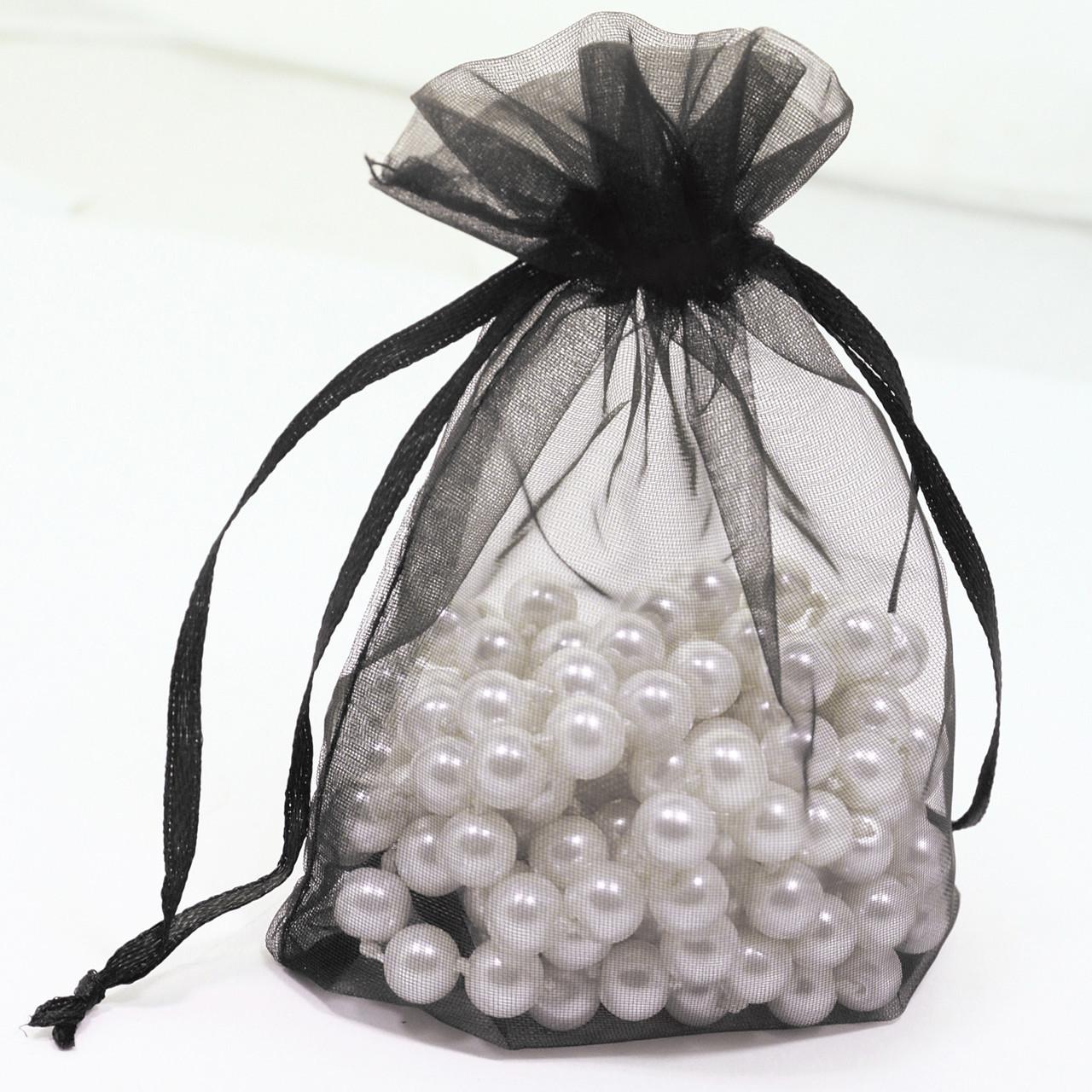 Подарочный мешочек Черный (9,5*11,5 см)