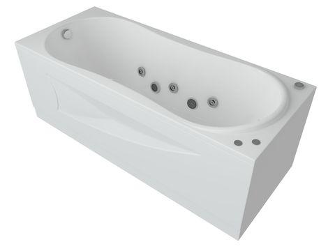 Ванна акриловая Aquatek Афродита 170х70см. на каркасе и сливом-переливом.