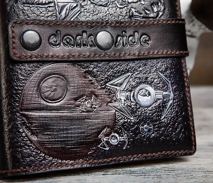 BC203 Кожаный ежедневник «Dark Side» ручной работы (A5) фото 08