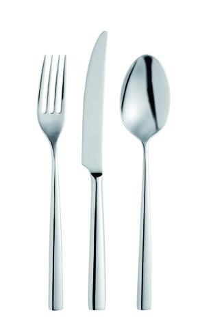 Набор столовых приборов  на 6 персон, 24 предмета, нержавеющая сталь , серебристый, артикул 1810500D05, серия Luce