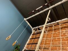 Усиленная шведская стенка с рукоходом и блочным тренажером №12