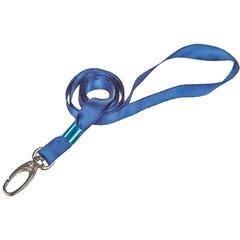 Держатель для бейджа Promega office на карабине голубой