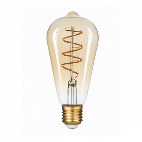 Светодиодная ретро лампа Эдисон ST64 LED Spiral 6W E27 2400K