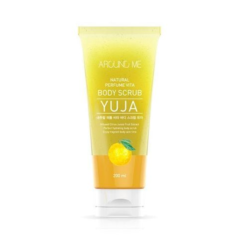 WELCOS Around Me Скраб для тела Around Me Natural Perfume Vita Body Scrub Yuja, 200 мл