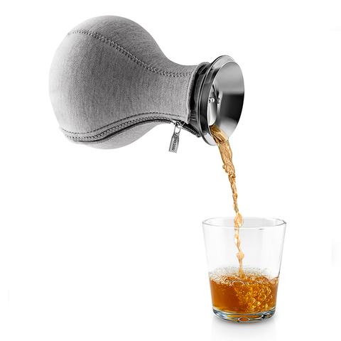 Чайник заварочный Tea maker в неопреновом текстурном чехле, 1 л, темно-серый
