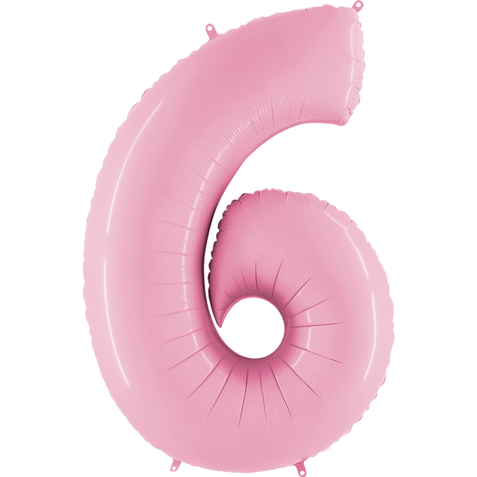 Розовая цифра 6