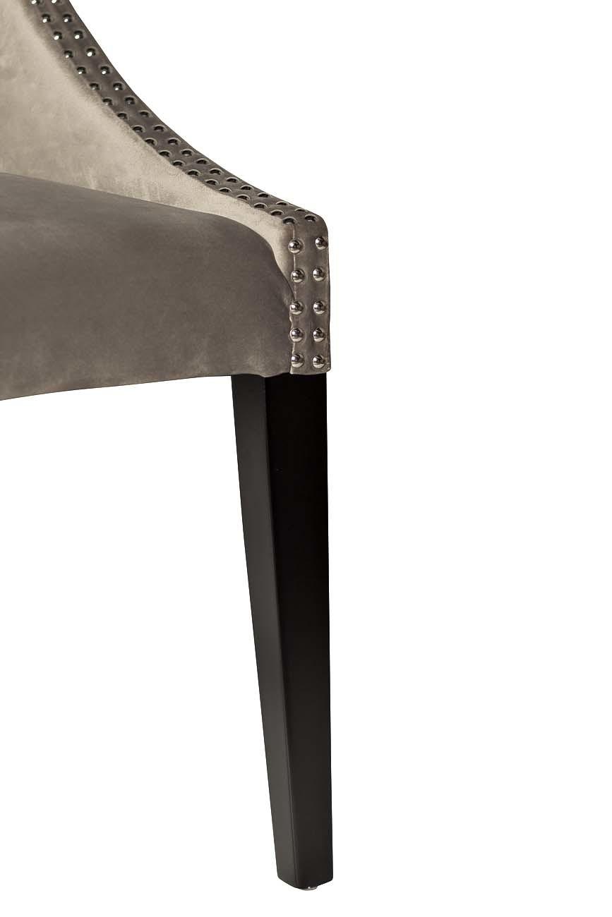 Стул велюровый серо-бежевый (HD2202-624) Garda Decor