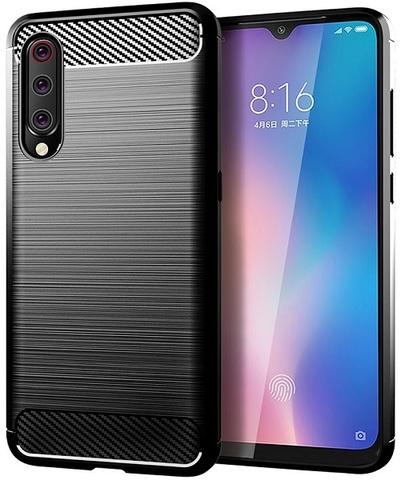 Чехол Xiaomi Mi 9 (9 Pro 5G) цвет Black (черный), серия Carbon, Caseport