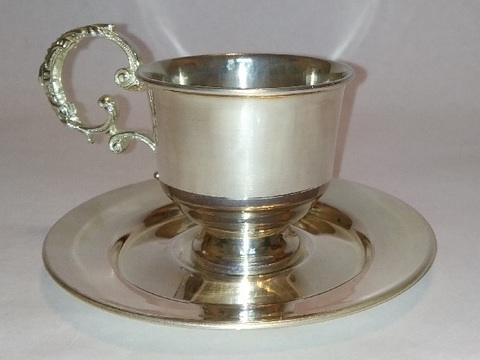Кофейная пара  с серебряным покрытием
