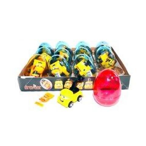 Прозрачные пластиковые яйца с карамелью и игрушкой