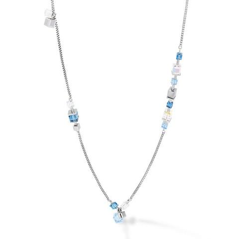 Длинное колье Crystals Silver-Blue 5066/10-0700 цвет синий