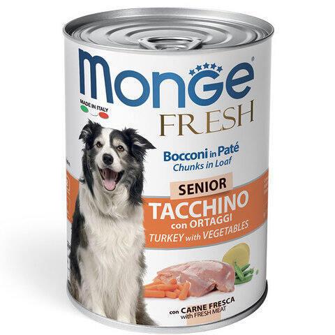 Купить мясной рулет Monge Fresh Senior turkey with vegetables консервы для пожилых собак мясной рулет индейка с овощами 400г