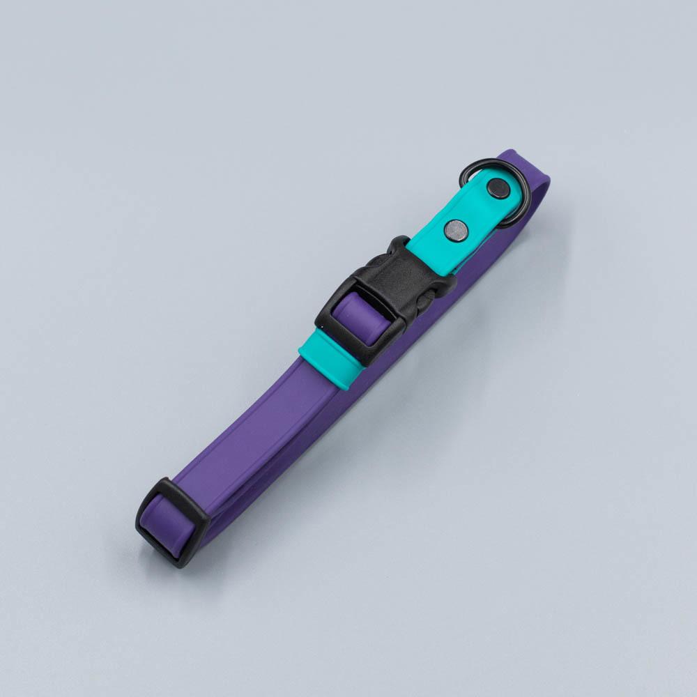 Ошейник из мягкого биотана. Фиолетовый & Мятный
